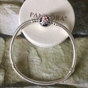 Pandora flower charm bracelet